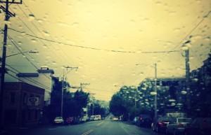 seattle in the rain